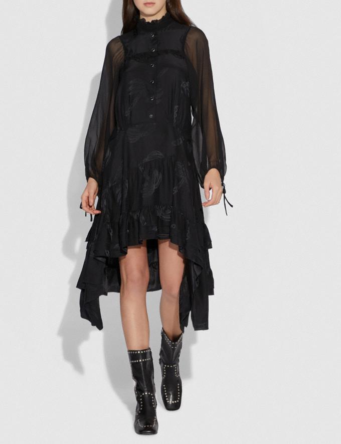 Coach Palm Tree Print Jacquard Dress Black SALE Women's Sale Ready-to-Wear Alternate View 1