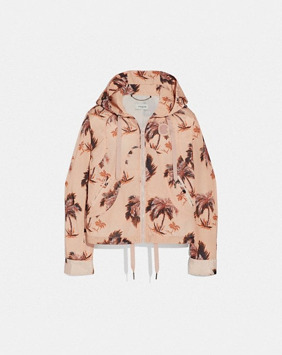 Coach PALM TREE PRINT WESTERN WINDBREAKER