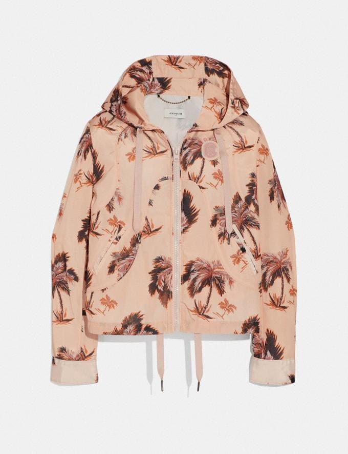 Coach Palm Tree Print Western Windbreaker Palm/Multicolor