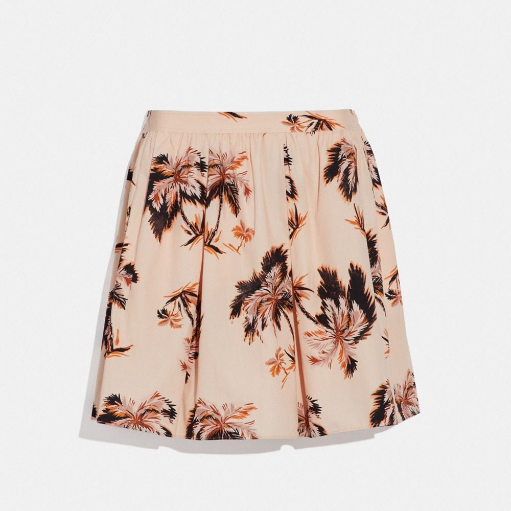 Coach Palm Tree Print Mini Skirt