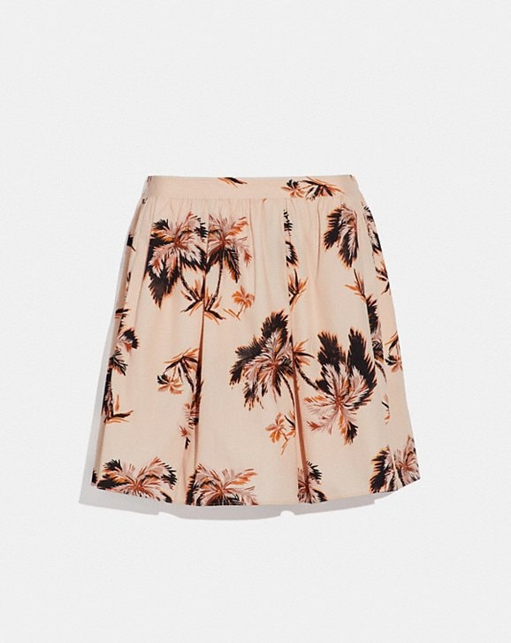 Coach PALM TREE PRINT MINI SKIRT