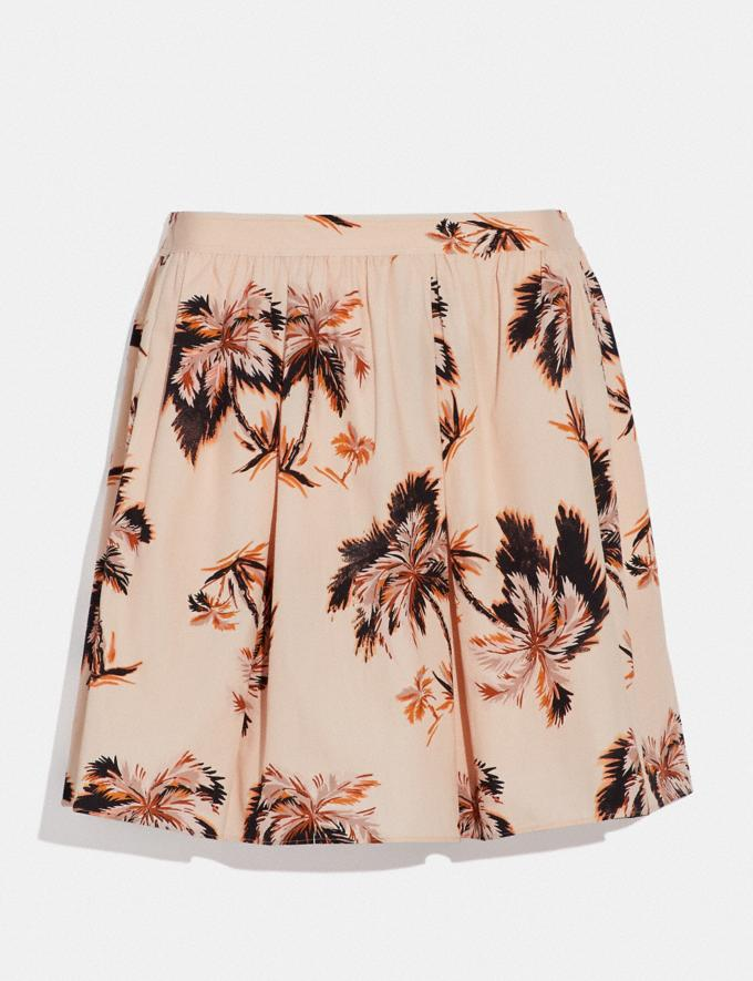 Coach Palm Tree Print Mini Skirt Peach