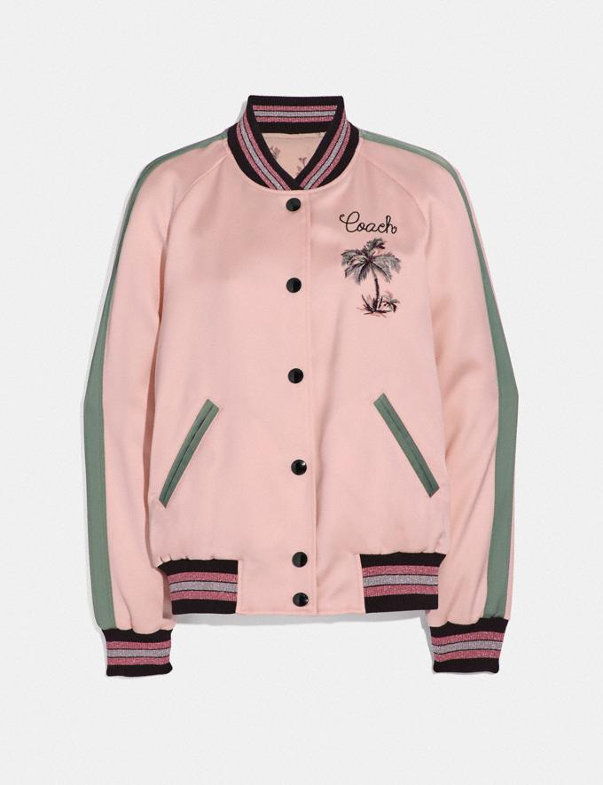 Coach Reversible Souvenir Varsity Jacket Pink SALE Women's Sale Ready-to-Wear
