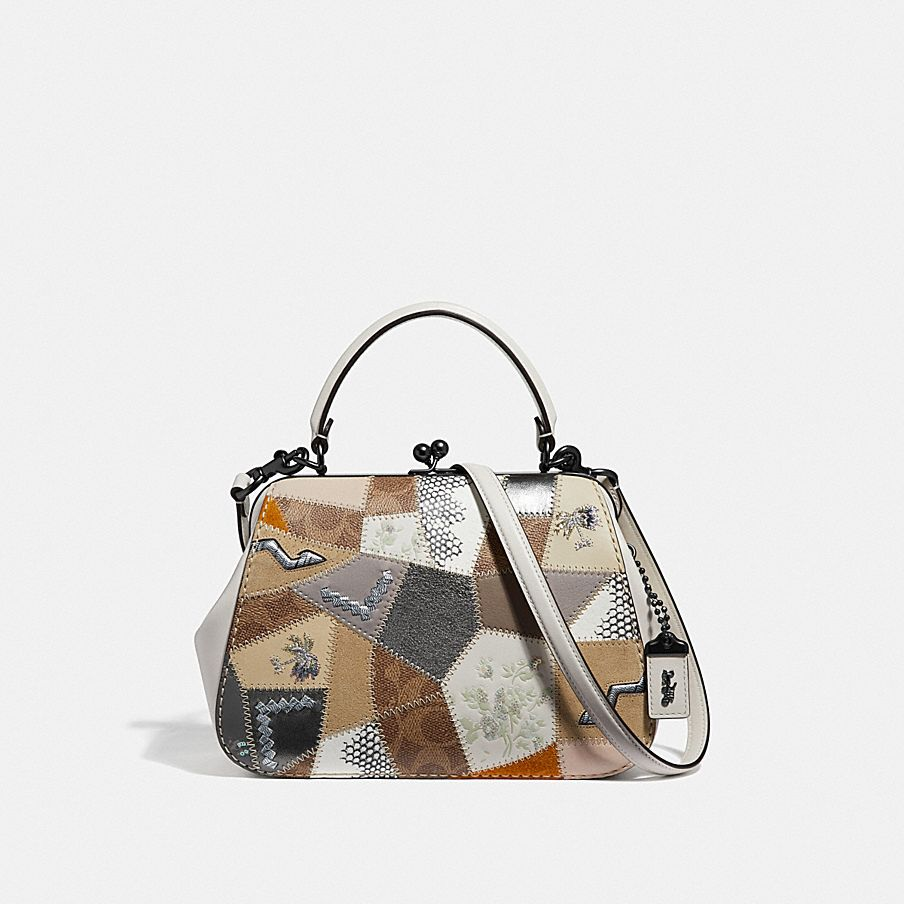 COACH  Frame Bag 23 With Signature Patchwork 706485853ea60