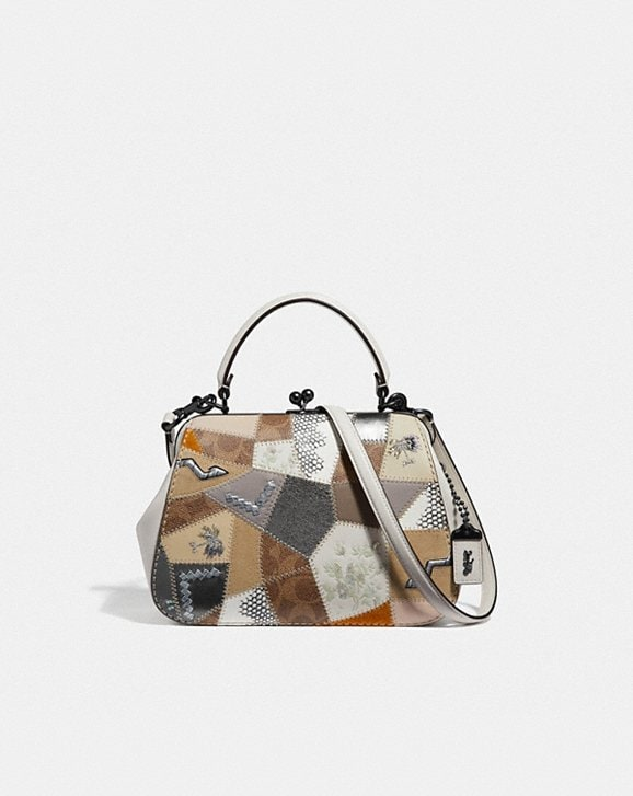 Coach FRAME BAG 23 WITH SIGNATURE PATCHWORK