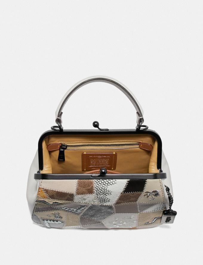 Coach Frame Bag 23 With Signature Patchwork Tan Beechwood Multi/Pewter Women Bags Satchels & Carryalls Alternate View 2