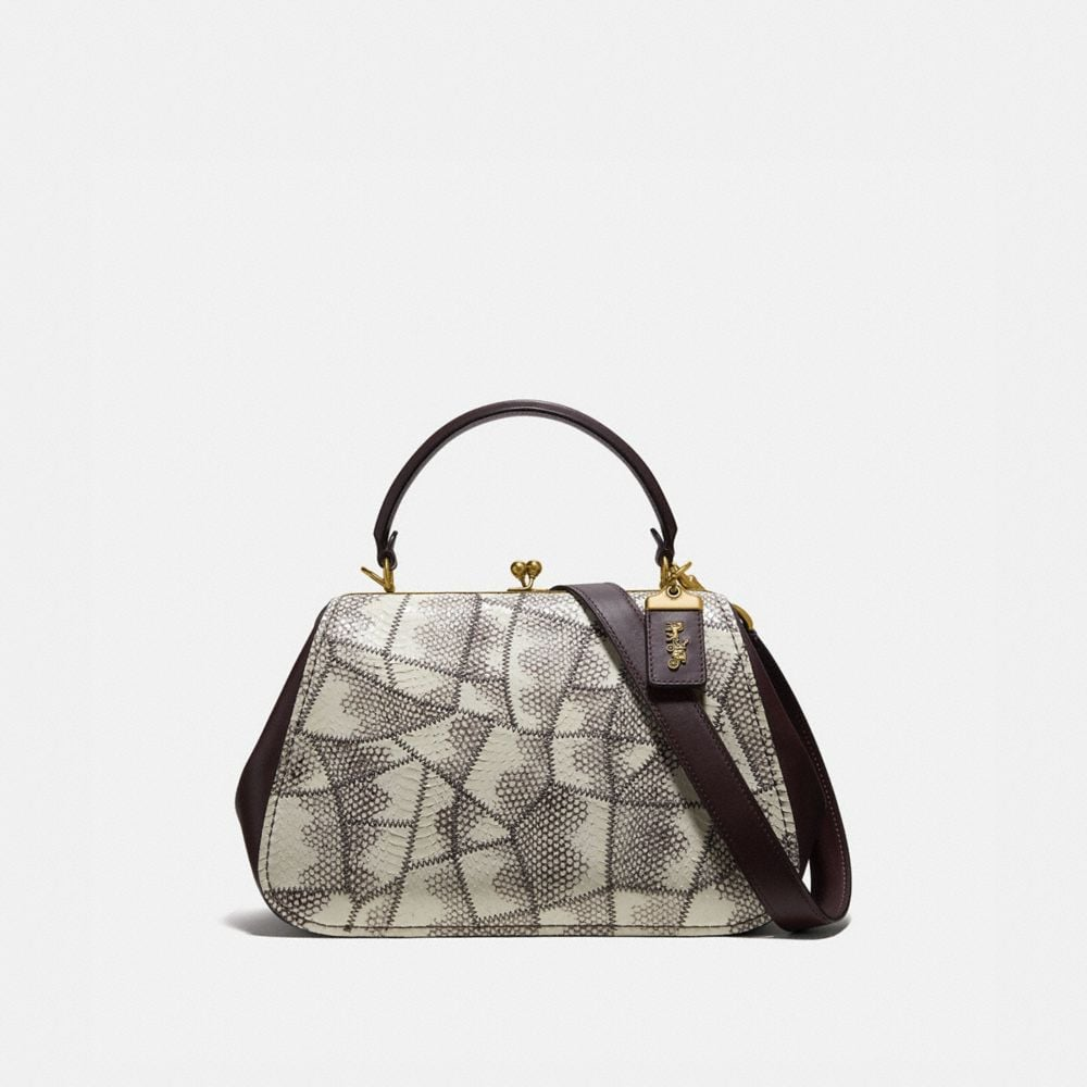 FRAME BAG IN SNAKESKIN