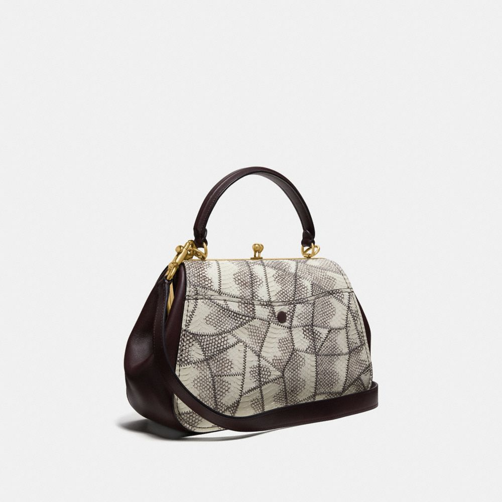 Coach Frame Bag in Snakeskin Alternate View 1