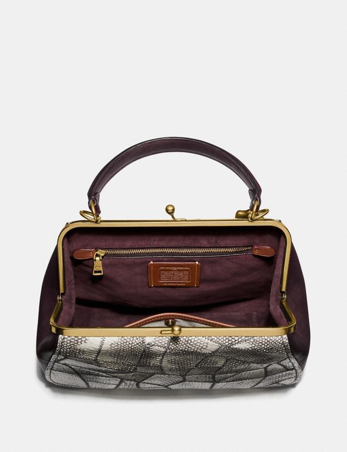 Coach Frame Bag in Snakeskin Natural/Brass Women Bags Satchels & Carryalls Alternate View 2