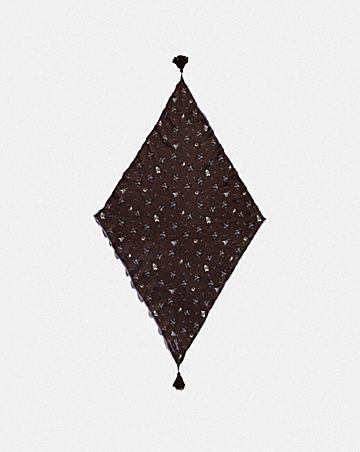DISNEY X COACH DUMBO FLORAL PRINT DIAMOND SCARF