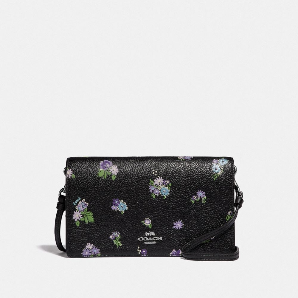 hayden foldover crossbody with posey cluster print