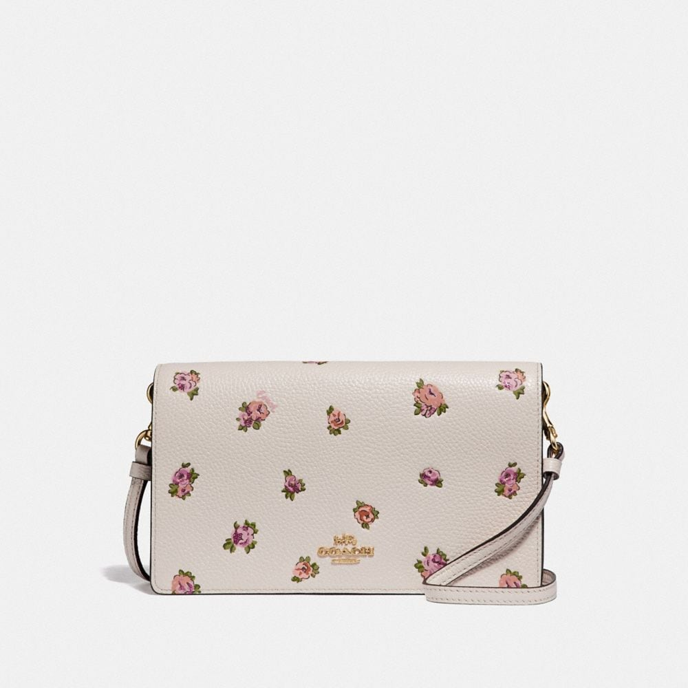 HAYDEN FOLDOVER CROSSBODY WITH MINI VINTAGE ROSE PRINT