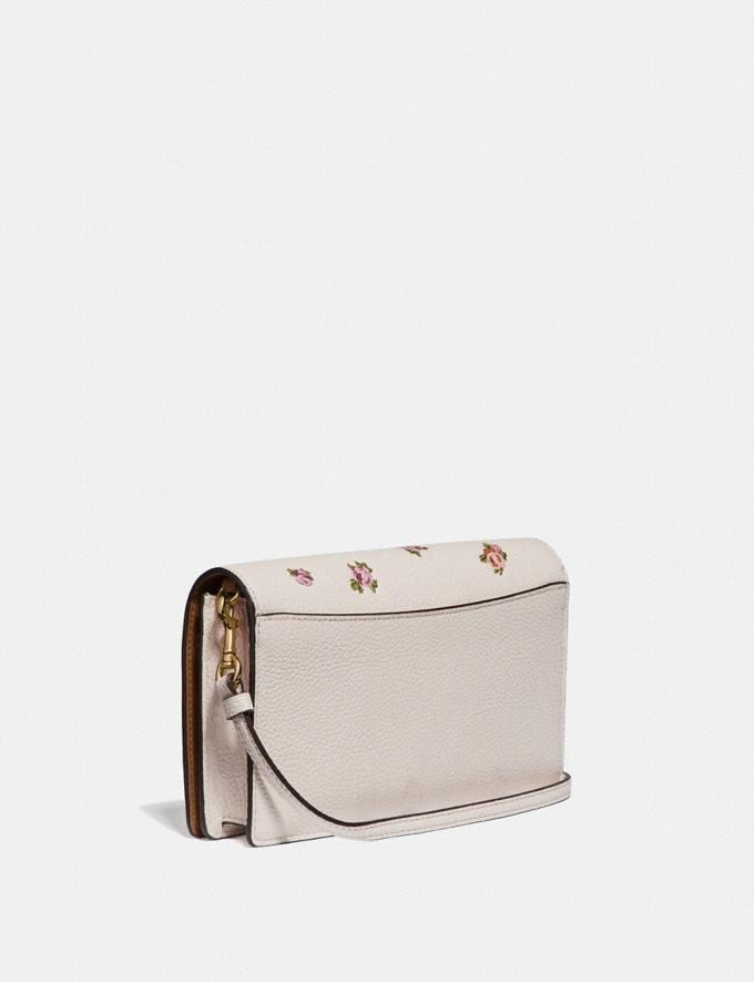 Coach Hayden Foldover Crossbody With Mini Vintage Rose Print Chalk Mini Vintage Rose/Gold Women Accessories Alternate View 1