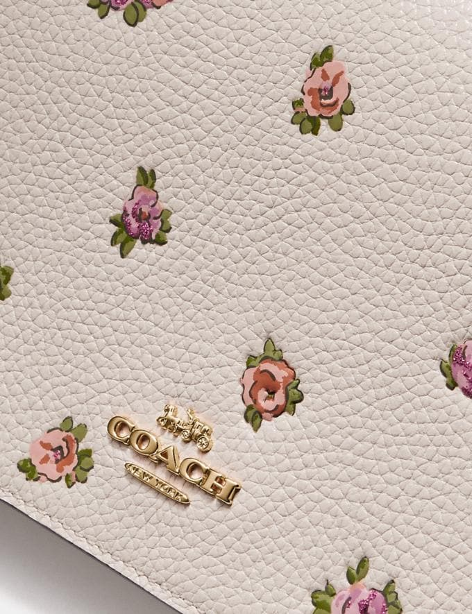 Coach Hayden Foldover Crossbody With Mini Vintage Rose Print Chalk Mini Vintage Rose/Gold Women Accessories Alternate View 4