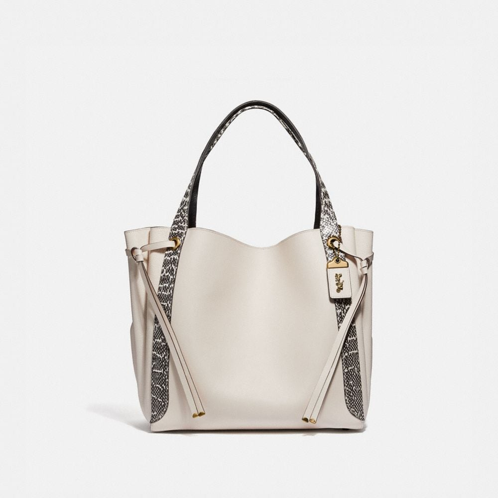 Coach Harmony Hobo 33 in Colorblock With Snakeskin Detail