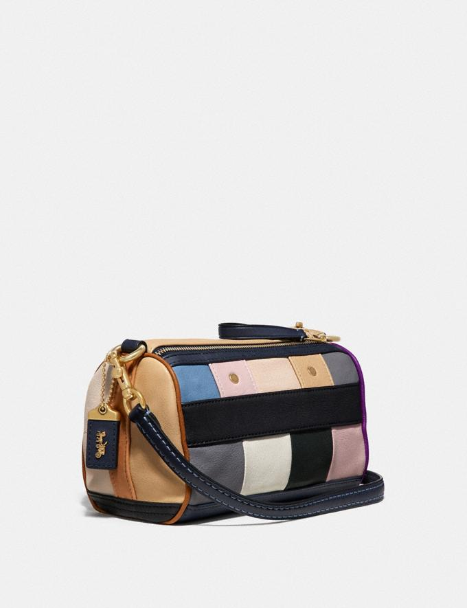 Coach Shuffle 21 With Multi Stripe Navy Multi/Brass VIP SALE Women's Sale Bags Alternate View 1