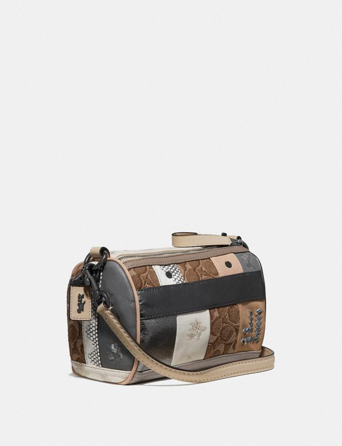 Coach Shuffle 21 in Multi Stripe Signature Jacquard V5/Tan Light Tan  Alternate View 1