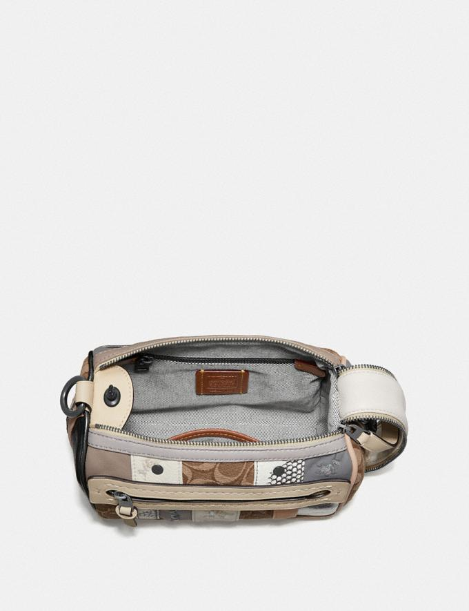 Coach Shuffle 21 in Multi Stripe Signature Jacquard V5/Tan Light Tan  Alternate View 2