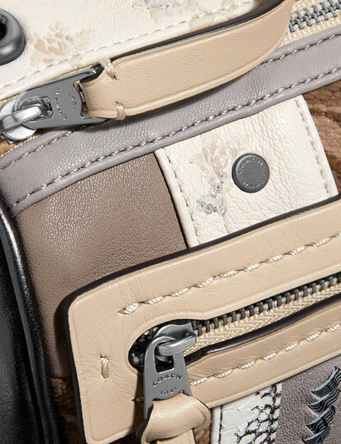 Coach Shuffle 21 in Multi Stripe Signature Jacquard V5/Tan Light Tan  Alternate View 4