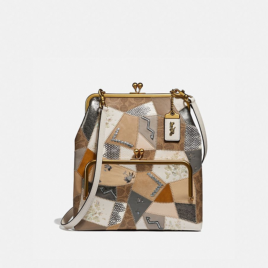 COACH  Double Frame Crossbody 26 With Signature Patchwork 7e45591c04838