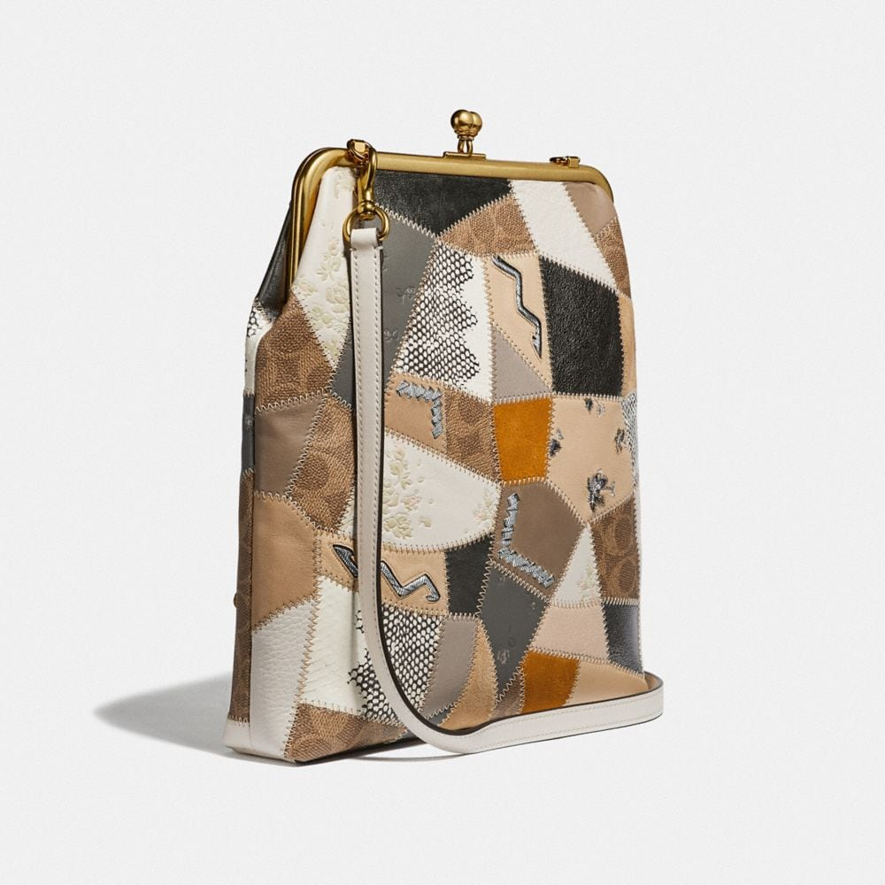 Coach Double Frame Crossbody 26 With Signature Patchwork Alternate View 1