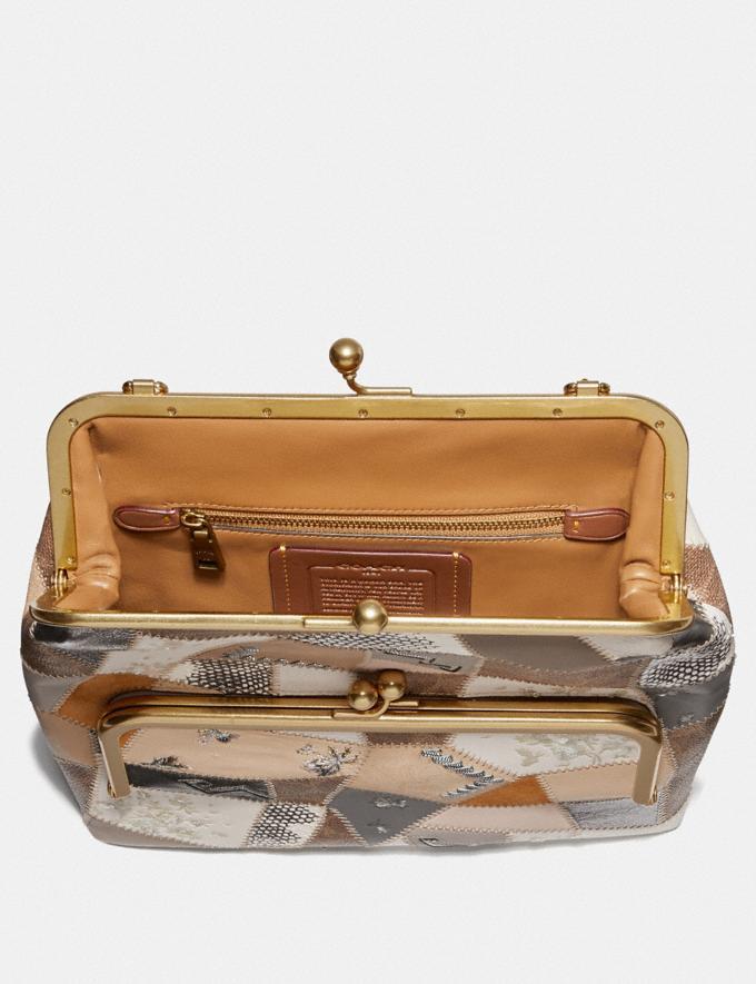 Coach Double Frame Crossbody 26 With Signature Patchwork Cream Multi/Brass Women Handbags Crossbody Bags Alternate View 2