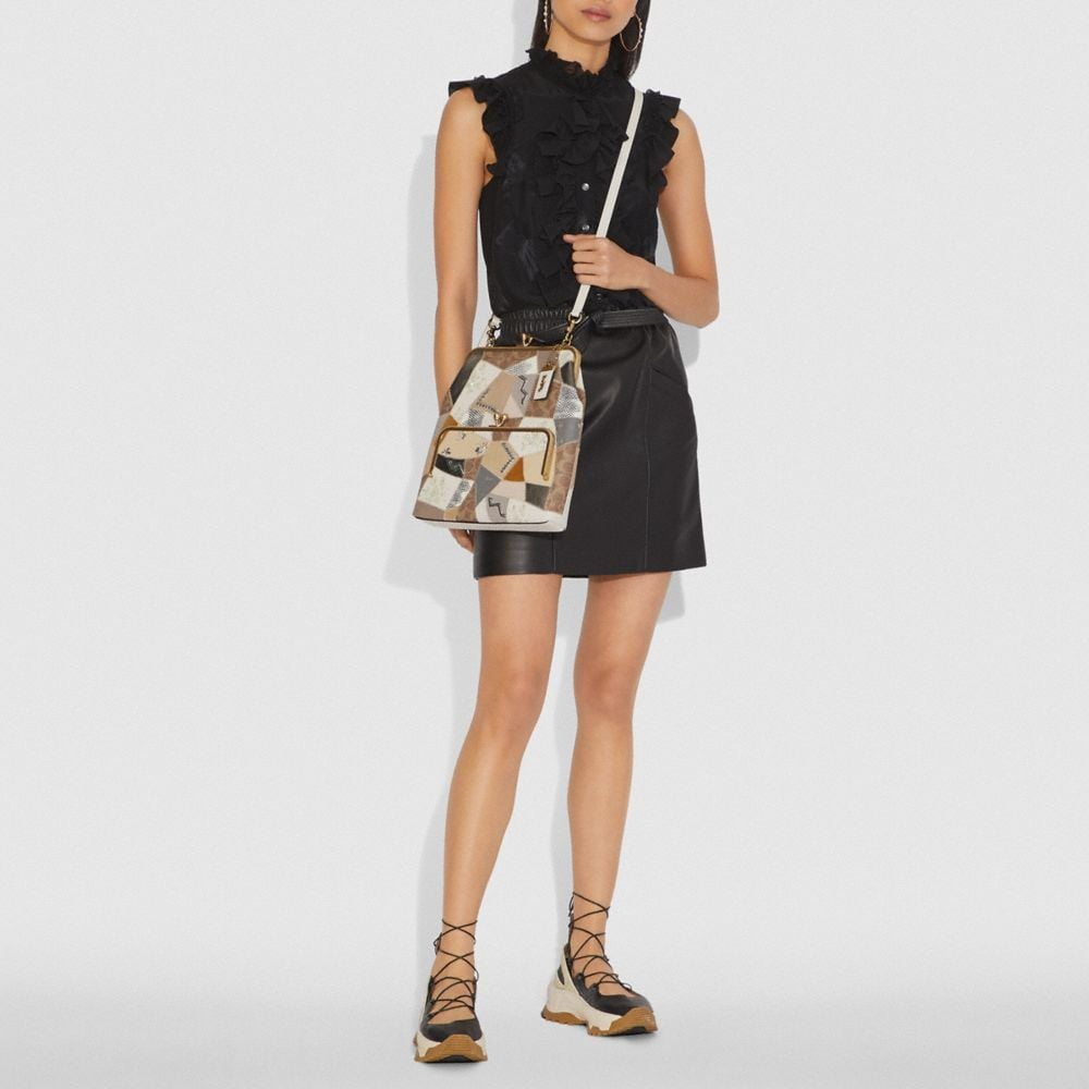 Coach Double Frame Crossbody 26 With Signature Patchwork Alternate View 3