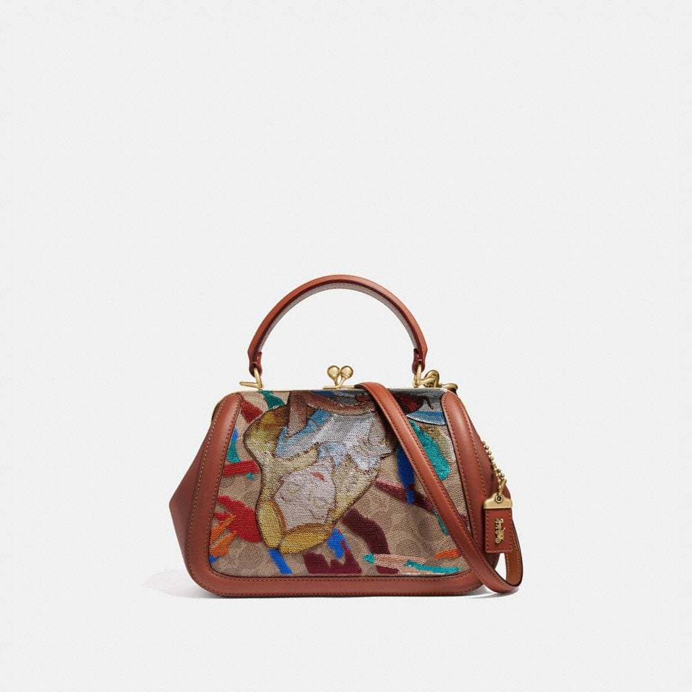 Coach Disney X Coach Frame Bag 23 With Embellished Alice