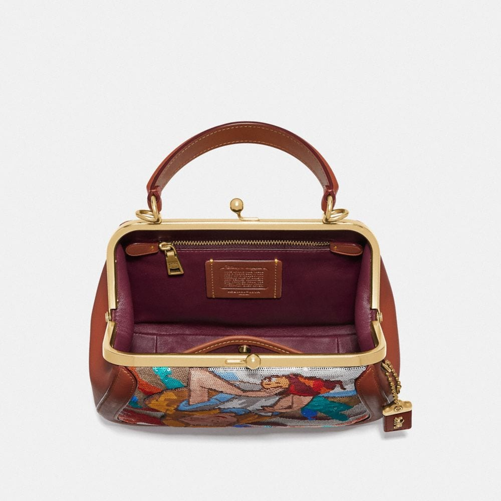 Coach Disney X Coach Frame Bag 23 With Embellished Alice Alternate View 2