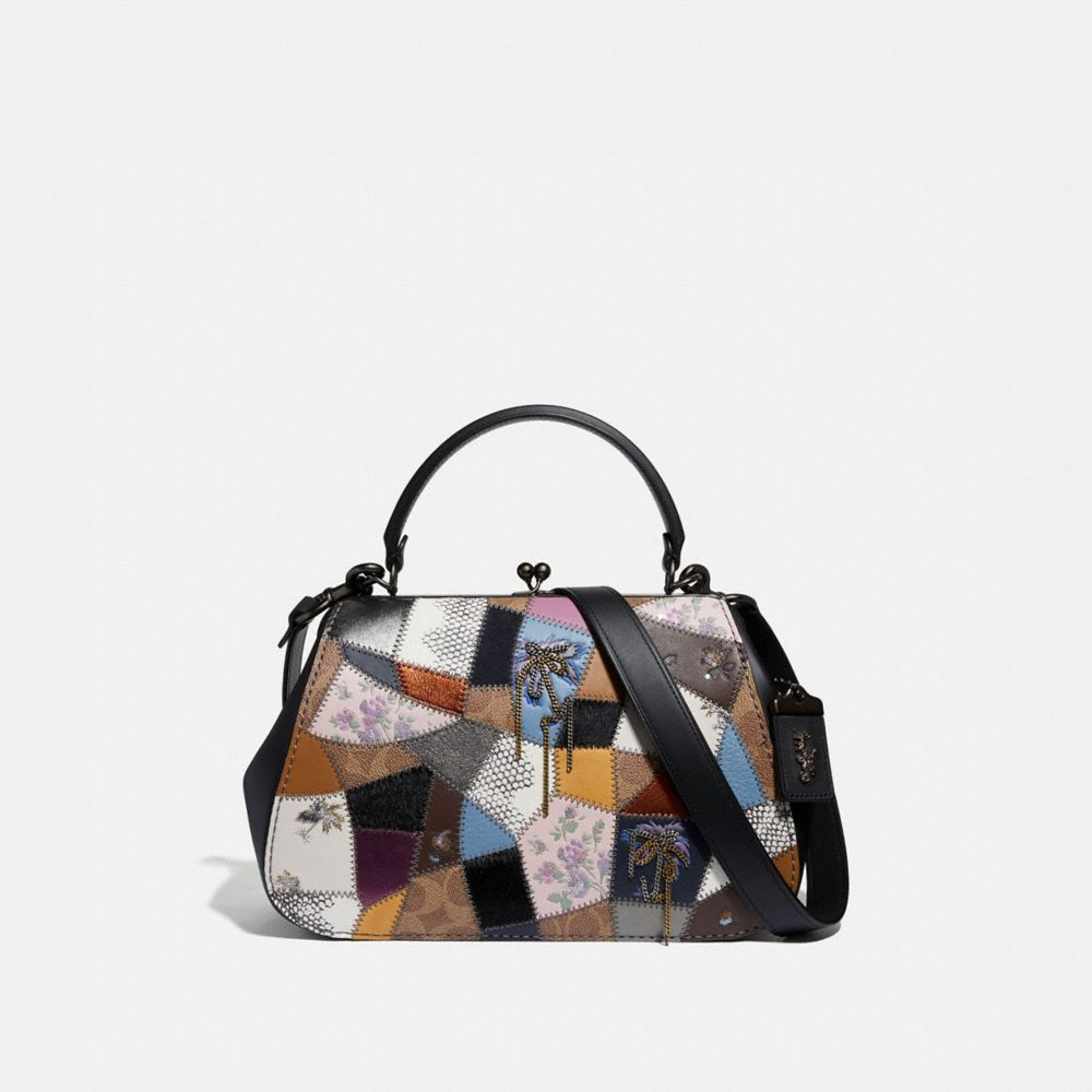 Coach Frame Bag With Patchwork