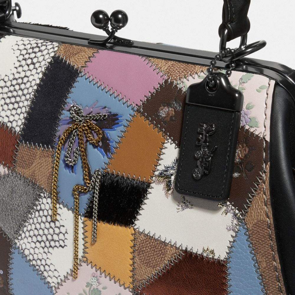 Coach Frame Bag With Patchwork Alternate View 4