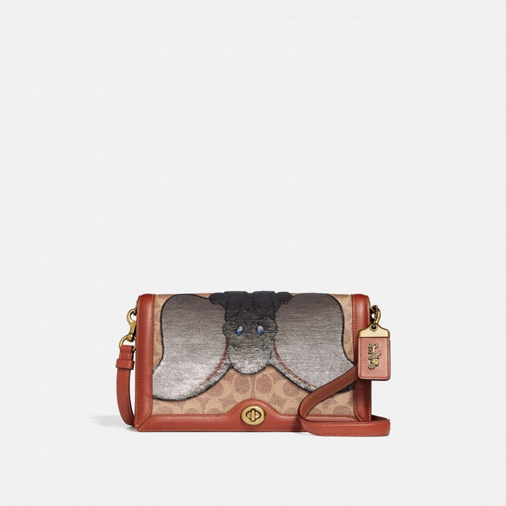 disney x coach signature riley with embellished dumbo