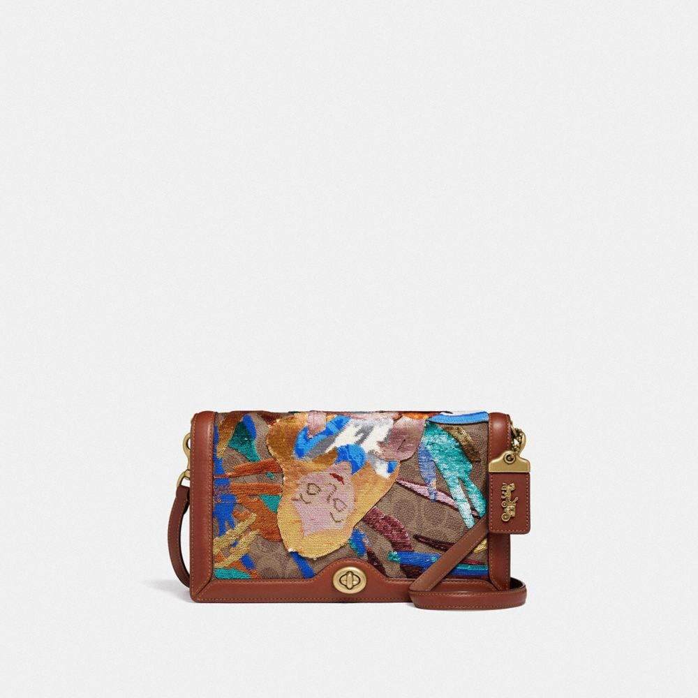 Coach Disney X Coach Signature Riley With Embellished Alice