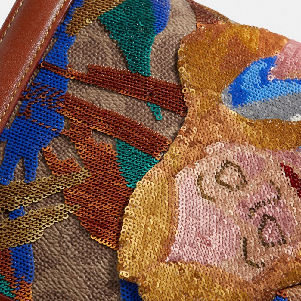 Coach Disney X Coach Signature Riley With Embellished Alice Alternate View 3