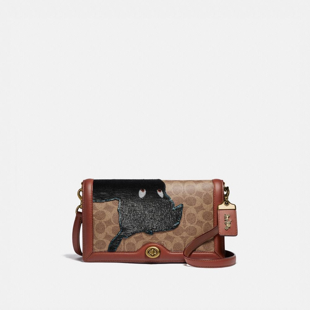 Coach Disney X Coach Signature Riley With Embellished Peter Pan