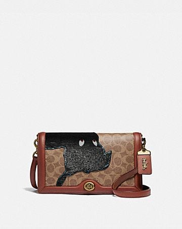 0405e27292fe DISNEY X COACH SIGNATURE RILEY WITH EMBELLISHED PETER PAN ...