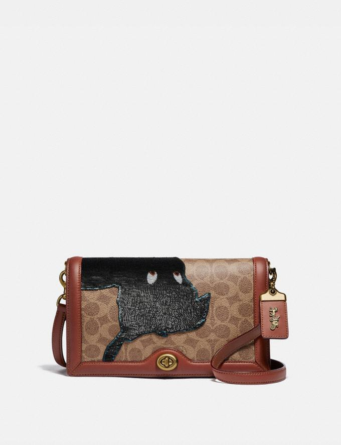 Coach Disney X Coach Signature Riley With Embellished Peter Pan B4/Tan Rust Women Collection Signature Styles