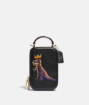 COACH X JEAN-MICHEL BASQUIAT ALIE CAMERA BAG WITH SNAKESKIN DETAIL
