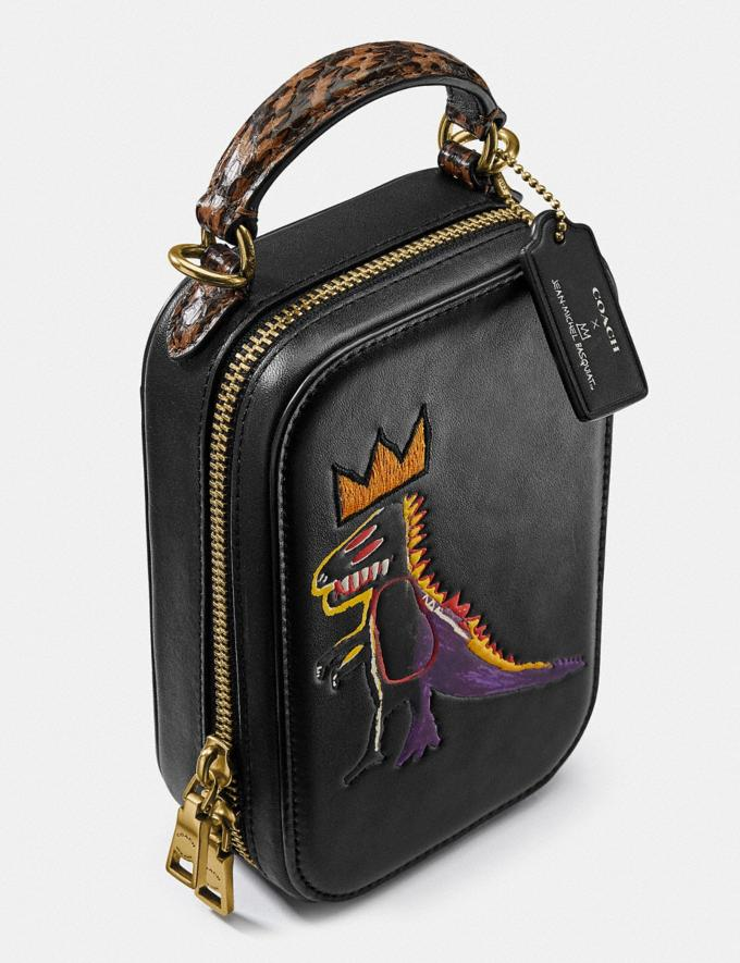 Coach Coach X Jean-Michel Basquiat Alie Camera Bag With Snakeskin Detail Brass/Black Women Handbags Crossbody Bags Alternate View 5