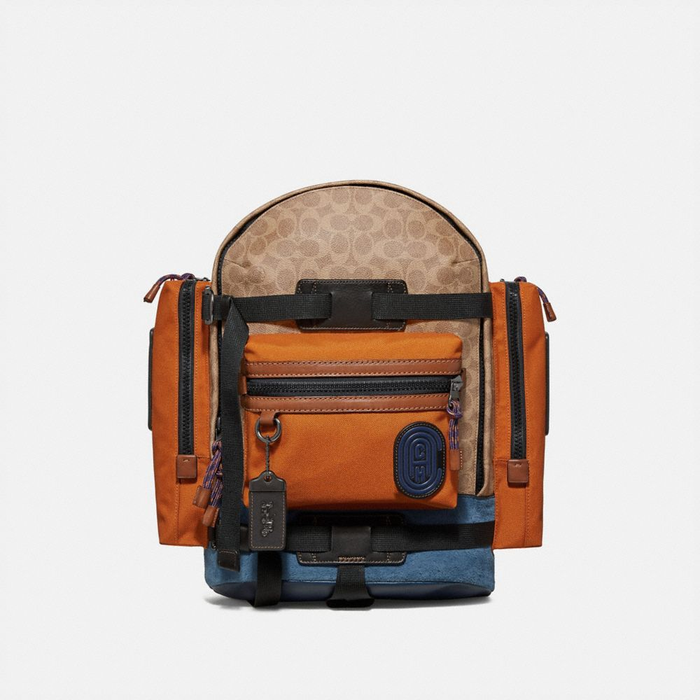 Coach Ridge Backpack in Signature Canvas With Coach Patch