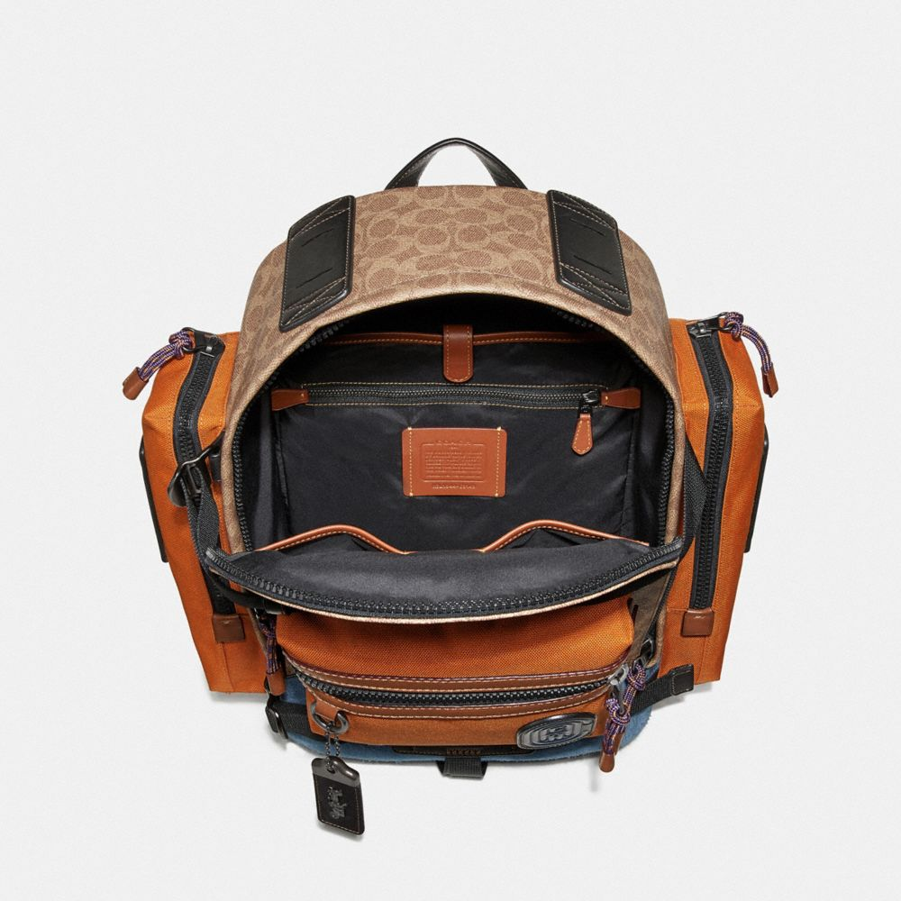 Coach Ridge Backpack in Signature Canvas With Coach Patch Alternate View 2