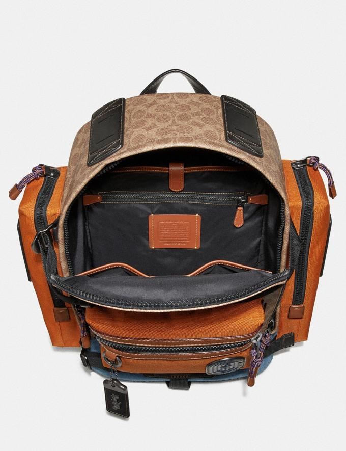 Coach Ridge Backpack in Signature Canvas With Coach Patch Khaki/Black Copper Men Bags Alternate View 2