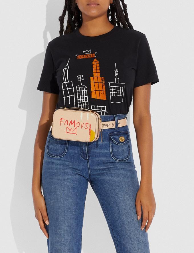 Coach Marsupio Alie Coach X Jean-Michel Basquiat Ottone/Avorio Donna Borse Borse a cintura Visualizzazione alternativa 4