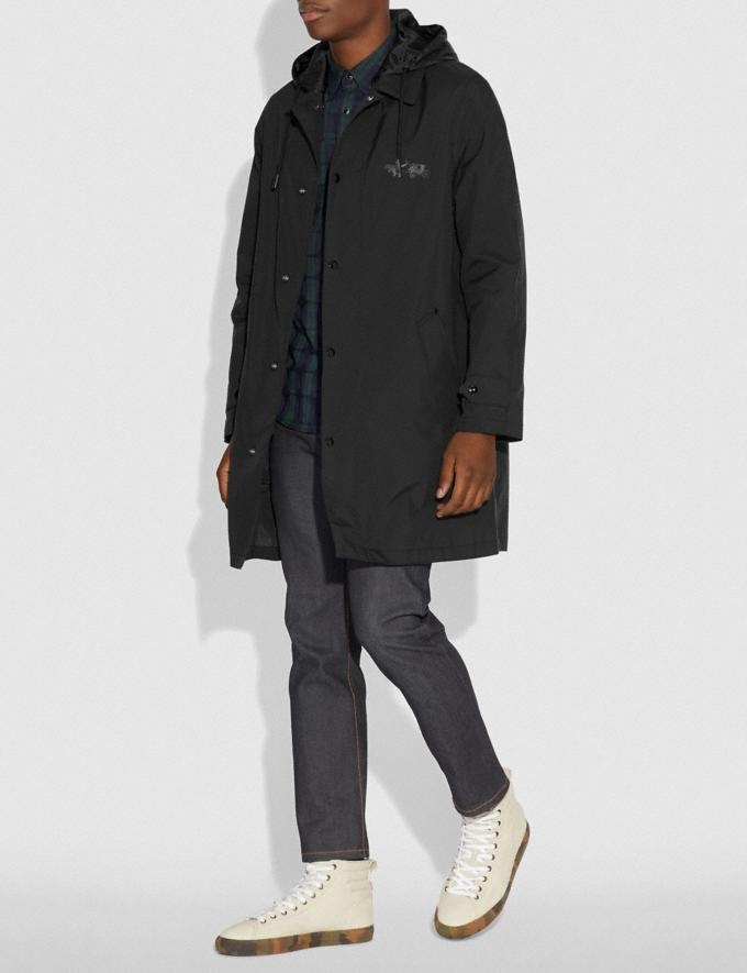 Coach Rexy and Carriage Coat With Hood Black Men Ready-to-Wear Coats & Jackets Alternate View 1