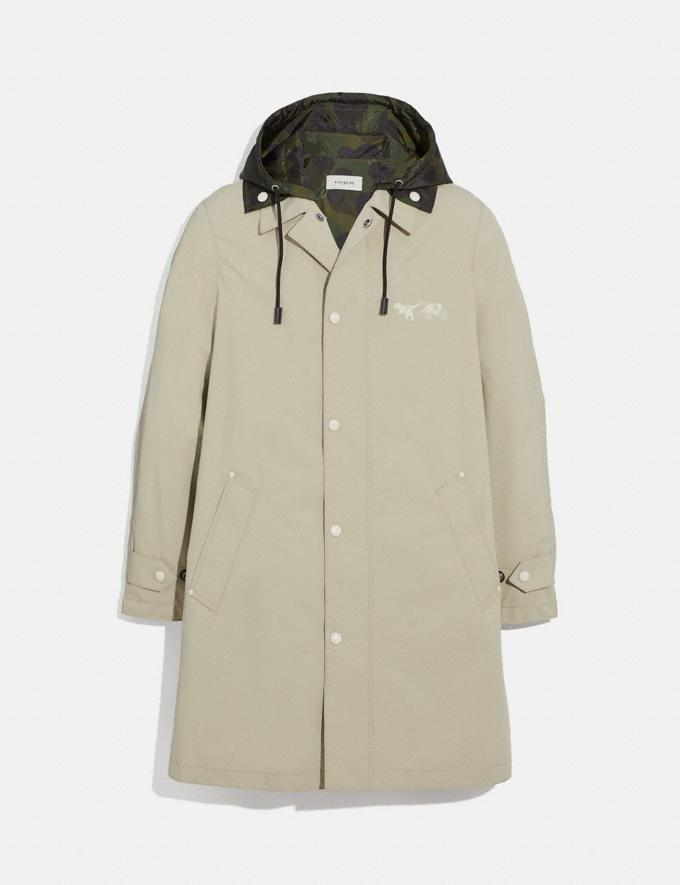 Coach Rexy and Carriage Coat With Hood Stone Men Ready-to-Wear