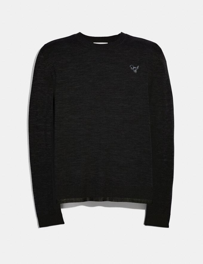 Coach Rexy Patch Crewneck Sweater Black Men Ready-to-Wear Tops & Bottoms