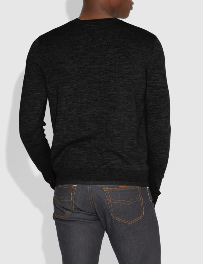 Coach Rexy Patch Crewneck Sweater Black Men Ready-to-Wear Tops & Bottoms Alternate View 2