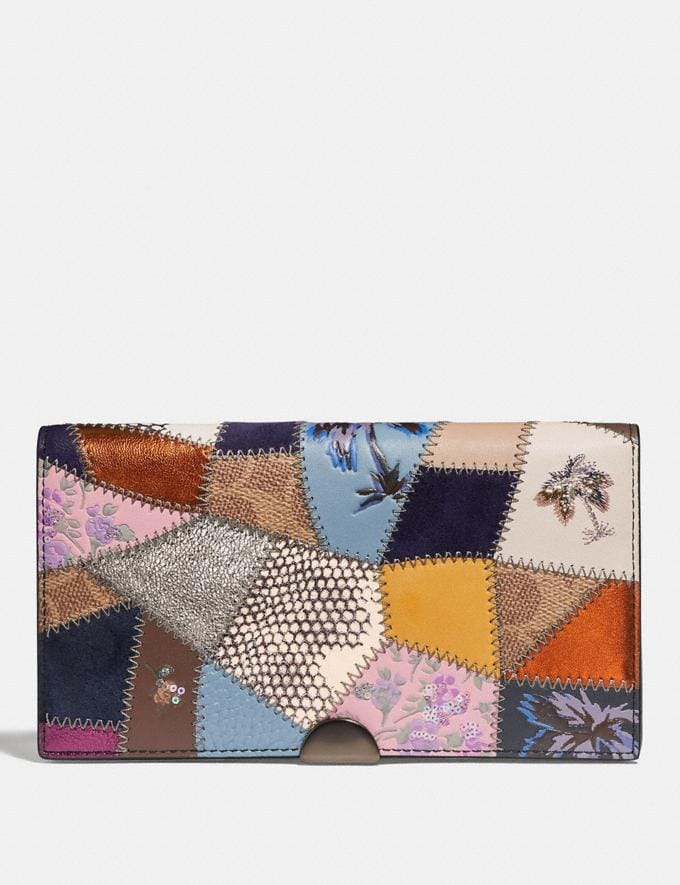 Coach Dreamer Wallet With Signature Patchwork Black