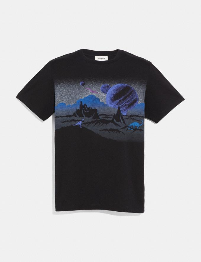 Coach Landscape T-Shirt Black Men Ready-to-Wear Tops & Bottoms