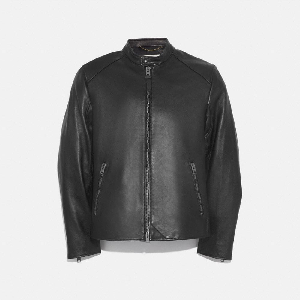 Coach Leather Racer